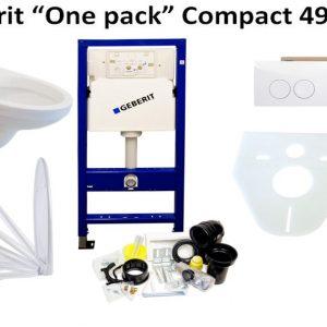 Complete Best Design Compact 49 cm witte toiletset met Geberit UP100