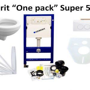 Complete Best Design Super 52 cm witte toiletset met Geberit UP100