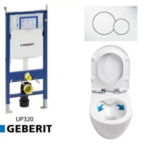 Complete Geberit UP320 set met Neuer Rimfree 2