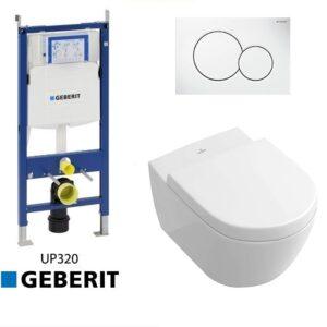 Complete Geberit UP320 set Villeroy en Boch Subway 2.0 direct flush