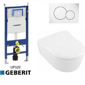 Complete Geberit UP320 set Villeroy&Boch Avento met slimseat