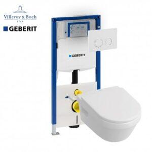 Complete Geberit UP320 set Villeroy en Boch O. omnia architectura direct flush
