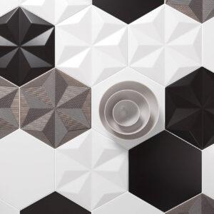 Wandtegel Quintessenza Ceramiche Origami 26